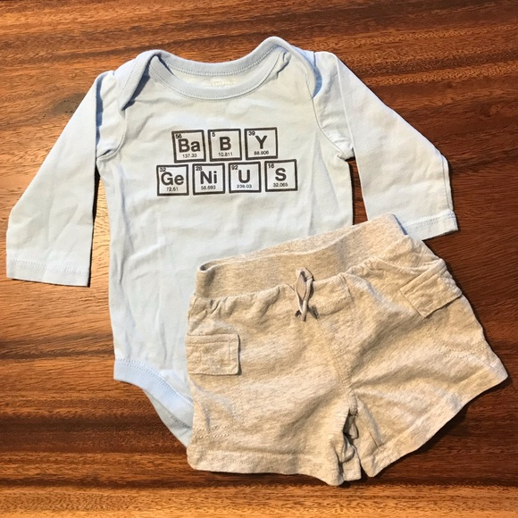 The Children's Place Other - ⚡️3 for $10⚡️Baby Genius onesie and shorts